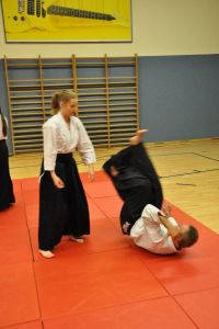 Aikidotraining in Linz mit Frank Koren, Mai 2014 - Shihonage