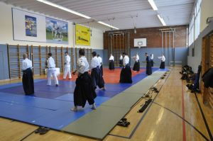 Aikidolehrgang mit Mark Pickering in Linz, 30./31.01.2015 - aidotraining am Morgen