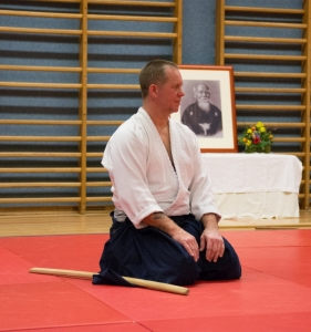 Aikidolehrgang mit Mark Pickering in Linz, 30./31.01.2015 - Am Ende des Trainings
